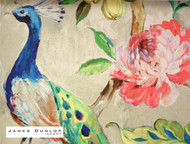 James Dunlop Indent - Arundel A Wallpaper - Jewel  | Wallpaper, Wallcovering - Blue, Red, Deco, Decorative, Fibre Blends, Floral, Garden, Multi-Coloured, Traditional, Birds