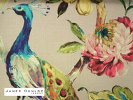 James Dunlop Indent - Arundel A Wallpaper - Linen  | Wallpaper, Wallcovering - Blue, Deco, Decorative, Fibre Blends, Floral, Garden, Multi-Coloured, Pink, Purple, Animals