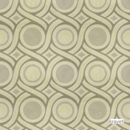 Kravet - Ravello - Moonstone  | Curtain Fabric - Gold,  Yellow, Contemporary, Geometric, Midcentury, Synthetic, Transitional, Jacquards, Standard Width, Circles