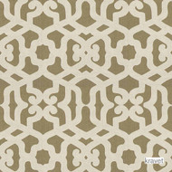 Kravet - Modern Elegance - Silver Cloud  | Curtain & Upholstery fabric - Brown, Mediterranean, Natural Fibre, Embroidery, Lattice, Trellis, Natural, Standard Width