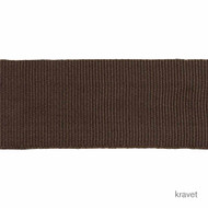 Kravet - Lgr Faille Tape - Loam  | Gimps & Braids, Curtain & Upholstery Trim - Brown, Synthetic