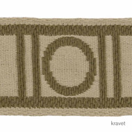 Kravet - Stone Henge - Bark  | Gimps & Braids, Curtain & Upholstery Trim - Beige, Brown, Natural Fibre, Natural