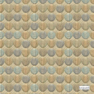 Kravet - In Balance - Mineral  | Upholstery Fabric - Blue, Gold,  Yellow, Geometric, Midcentury, Small Scale, Synthetic, Matelasse, Standard Width, Circles