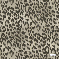 Kravet - Bosana - Shadow  | Curtain & Upholstery fabric - Brown, Black - Charcoal, Midcentury, Natural Fibre, Natural, Print, Standard Width