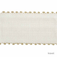 Kravet - Abbey Road - Chalk  | Gimps & Braids, Curtain & Upholstery Trim - White, Synthetic, White