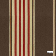 Kravet - Chaff Ticking - Cayenne  | Curtain & Upholstery fabric - Brown, Red, Outdoor Use, Stripe, Synthetic, Traditional, Standard Width