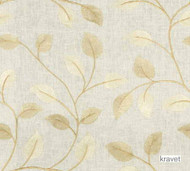 Kravet - Cordate - Palomino  | Upholstery Fabric - Beige, White, Floral, Garden, Natural Fibre, Embroidery, Natural, White, Standard Width