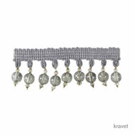 Kravet - Clear Bead - 52  | Fringe, Curtain & Upholstery Trim - Pink, Purple, Synthetic