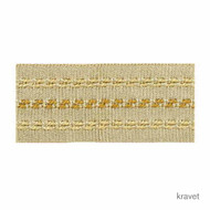 Kravet - Stitched Banding - 4  | Gimps & Braids, Curtain & Upholstery Trim - Beige, Synthetic
