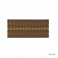 Kravet - Stitched Banding - 64  | Gimps & Braids, Curtain & Upholstery Trim - Gold,  Yellow, Synthetic