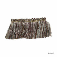 Kravet - Brushfringe - 635  | Fringe, Curtain & Upholstery Trim - Grey, Silver, Synthetic
