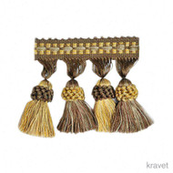 Kravet - Tasselfringe - 64  | Fringe, Curtain & Upholstery Trim - Gold,  Yellow, Synthetic