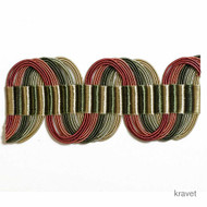 Kravet - T30401_73  | Gimps & Braids, Curtain & Upholstery Trim - Gold,  Yellow, Fibre Blends, Pink, Purple