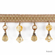 Kravet - T30468_4  | Fringe, Curtain & Upholstery Trim - Gold,  Yellow, Synthetic