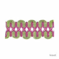 Kravet - T30393_73  | Gimps & Braids, Curtain & Upholstery Trim - Fibre Blends, Pink, Purple