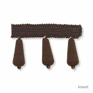 Kravet - Bijou Bauble - Truffle  | Fringe, Curtain & Upholstery Trim - Brown, Fibre Blends