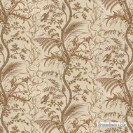 Brunschwig And Fils - Bird And Thistle Cotton Print - Beige  | Curtain & Upholstery fabric - Brown, Natural Fibre, Toile, Traditional, Natural, Print, Standard Width
