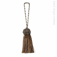 IDM - Classic New York Key Tassel 1050-00 _9975 Central Park  | Key Tassel, Curtain & Upholstery, Trim - Brown, Silver, Tan, Taupe, Traditional, Domestic Use