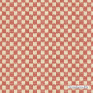 Brunschwig And Fils - Pinceau - Poppy  | Upholstery Fabric - Red, Check, Farmhouse, Natural Fibre, Traditional, Natural, Standard Width