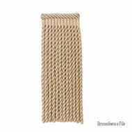 Brunschwig And Fils - Coeur Bullion-L - Hemp  | Fringe, Curtain & Upholstery Trim - Beige, Synthetic, Traditional