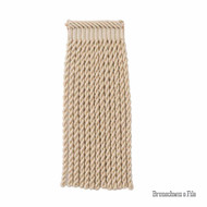Brunschwig And Fils - Coeur Bullion-L - Stone  | Fringe, Curtain & Upholstery Trim - Beige, Synthetic, Traditional
