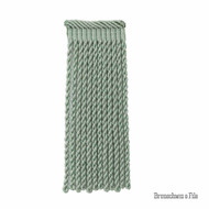 Brunschwig And Fils - Coeur Bullion-L - Jade  | Fringe, Curtain & Upholstery Trim - Blue, Synthetic, Traditional