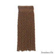 Brunschwig And Fils - Coeur Bullion-L - Tobacco  | Fringe, Curtain & Upholstery Trim - Brown, Synthetic, Traditional