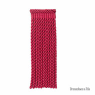 Brunschwig And Fils - Coeur Bullion-L - Raspberry  | Fringe, Curtain & Upholstery Trim - Red, Pink, Purple, Synthetic, Traditional