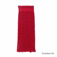 Brunschwig And Fils - Coeur Bullion-L - Rouge  | Fringe, Curtain & Upholstery Trim - Red, Synthetic, Traditional