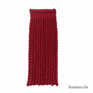 Brunschwig And Fils - Coeur Bullion-L - Ruby  | Fringe, Curtain & Upholstery Trim - Red, Synthetic, Traditional