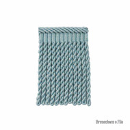 Brunschwig And Fils - Coeur Bullion-S - Aqua  | Fringe, Curtain & Upholstery Trim - Blue, Synthetic, Traditional