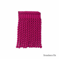 Brunschwig And Fils - Coeur Bullion-S - Fuchsia  | Fringe, Curtain & Upholstery Trim - Red, Pink, Purple, Synthetic, Traditional