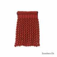 Brunschwig And Fils - Coeur Bullion-S - Brick  | Fringe, Curtain & Upholstery Trim - Red, Synthetic, Traditional