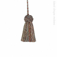 IDM - Classic Exquisite Key Tassel 1050-00 _8802 Red Sherbert    Key Tassel, Curtain & Upholstery, Trim - Gold,  Yellow, Red, Traditional, Domestic Use