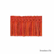 Brunschwig And Fils - Coeur Brush - Rust  | Fringe, Curtain & Upholstery Trim - Red, Synthetic, Traditional