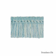 Brunschwig And Fils - Coeur Brush - Aqua  | Fringe, Curtain & Upholstery Trim - Blue, Synthetic, Traditional