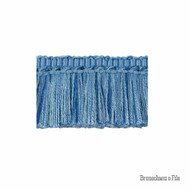 Brunschwig And Fils - Coeur Brush - Canton Blue  | Fringe, Curtain & Upholstery Trim - Blue, Synthetic, Traditional