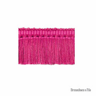 Brunschwig And Fils - Coeur Brush - Fuchsia  | Fringe, Curtain & Upholstery Trim - Pink, Purple, Synthetic, Traditional