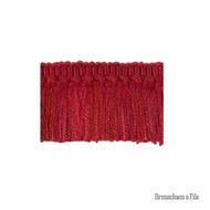 Brunschwig And Fils - Coeur Brush - Ruby  | Fringe, Curtain & Upholstery Trim - Red, Synthetic, Traditional