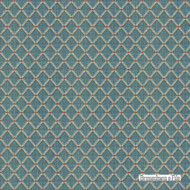 Brunschwig And Fils - Amoy Trellis - Slate Blue  | Upholstery Fabric - Blue, Fibre Blends, Small Scale, Traditional, Diamond - Harlequin, Standard Width
