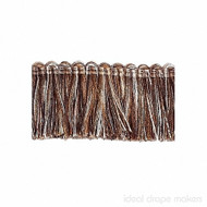 IDM - New York Cut Fringe 1795_9975 Central Park  | Fringe, Curtain & Upholstery Trim - Brown, Silver, Tan, Taupe, Traditional, Domestic Use