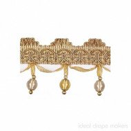 IDM - New York Beaded Fringe 4356_9963 Brooklyn  | Fringe, Curtain & Upholstery Trim - Gold,  Yellow, Tan, Taupe, Traditional, Domestic Use