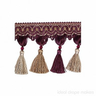 IDM - New York Tassel Fringe 4396_9932 Broadway  | Fringe, Curtain & Upholstery Trim - Beige, Burgundy, Gold,  Yellow, Traditional, Domestic Use