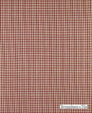 Brunschwig And Fils - Provence Check - Bordeaux  | Upholstery Fabric - Red, Check, Farmhouse, Gingham, Natural Fibre, Traditional, Natural, Standard Width