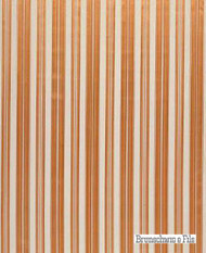 Brunschwig And Fils - Vilmorin Satin Stripe - Papaya  | Upholstery Fabric - Natural Fibre, Stripe, Traditional, Natural, Standard Width