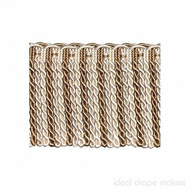 IDM - New York Bullion Fringe 4810_9924 Liberty  | Fringe, Curtain & Upholstery Trim - Brown, White, Tan, Taupe, Traditional, Domestic Use, White