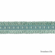 Brunschwig And Fils - Complement Looped Border - Opal  | Gimps & Braids, Curtain & Upholstery Trim - Blue, Synthetic, Traditional