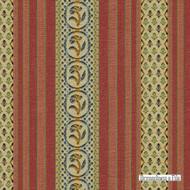 Brunschwig And Fils - Rayure Fleurette - Begonia  | Upholstery Fabric - Brown, Eclectic, Floral, Garden, Natural Fibre, Stripe, Traditional, Jacquards, Natural, Strie