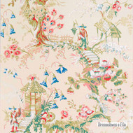 Brunschwig And Fils - Chinese Landscape - Ecru  | Wallpaper, Wallcovering - Beige, Asian, Chinoise, Print
