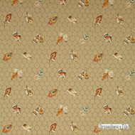 Brunschwig And Fils - Feather Your Nest - Cafe Au Lait  | Wallpaper, Wallcovering - Brown, Honeycomb, Figurative, Print